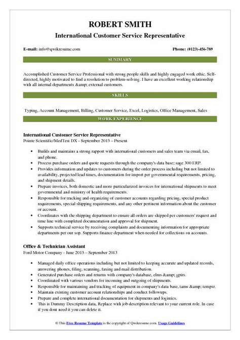 Resume Summary Statement Exles Customer Service by 14 Customer Assistant Resume Sowtemplate