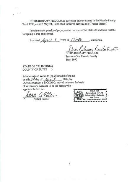 estate planning  california acknowledgement  jurat