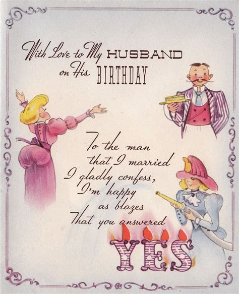 Birthday Cards for Husband with Love 1950s With Love