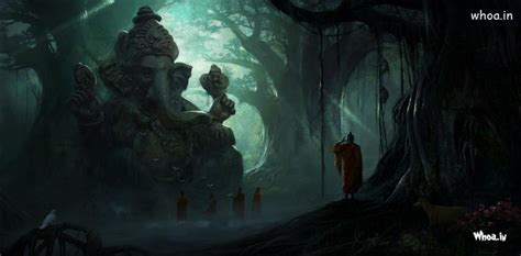 hd image  lord ganesha   big tree