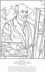 Coloring Portrait Self Pages Adult Cezanne Dover Paul Series Publications Doverpublications Boyama Unfortunate Events Template Paintings Sanat Kitapları Sheets Adults sketch template