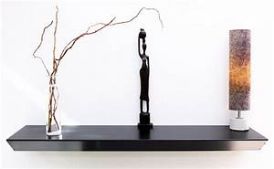 Console Murale Design : console suspendue noir meuble console murale moderne table ~ Teatrodelosmanantiales.com Idées de Décoration