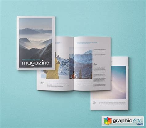 This mockup is good to use specially for brochure or magazine projects. A4 Psd Magazine Booklet Mockup Vol 3 » Free Download ...
