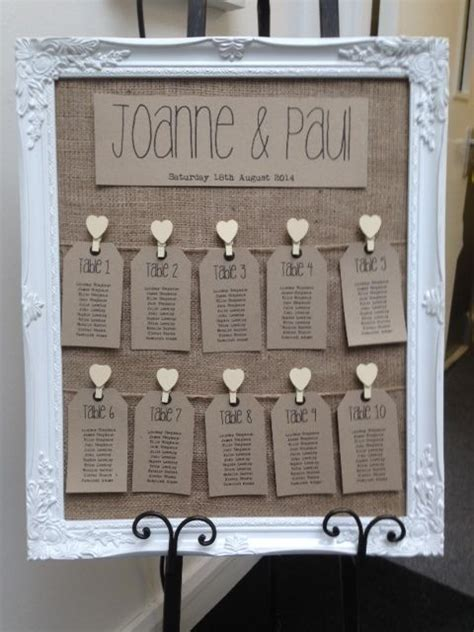 shabby chic wedding seating plan ideas rustic antique framed vintage shabby chic wedding table seating plan ebay