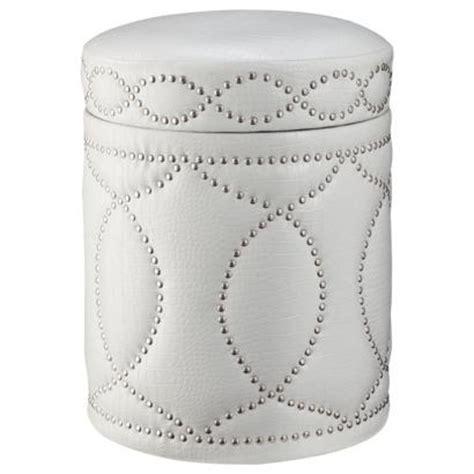 hands white storage ottoman  nailhead trim  target