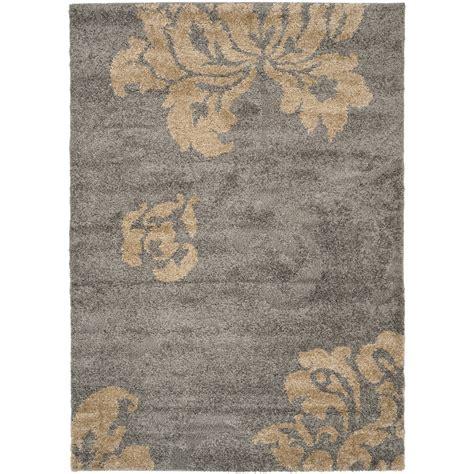 beige and gray rug shop safavieh votive shag gray beige rectangular indoor