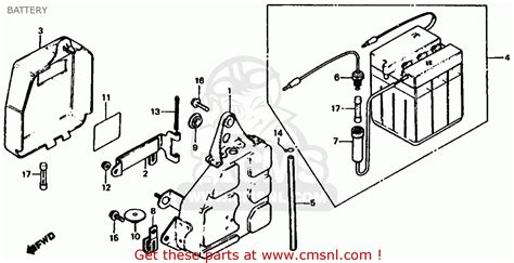 honda xl185s 1982 c usa battery schematic partsfiche