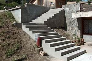 installation dun escalier exterieur fourniture et pose With faire un escalier exterieur en beton