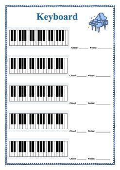Music Blank Diagrams For Keyboard Guitar Bass
