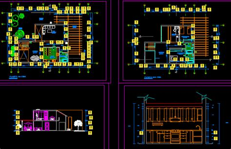 single family small house  dwg plan  autocad