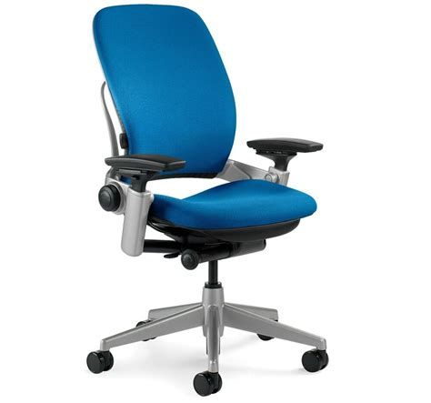 Steelcase Upholstery by Large Steelcase Leap Plus Adjustable Chair V2 Buzz2 Blue