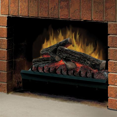 electric fireplace logs dimplex 23 quot standard electric fireplace insert and log set