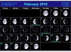 February 2018 Moon Phases Calendar Calendar 2018