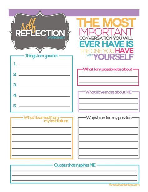 reflection worksheet  reflection activities