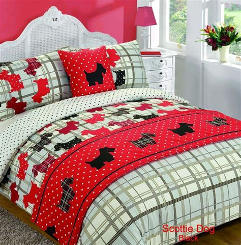 quilted duvet cover pattern 5 bed in bag duvet quilt cover scottie tartan