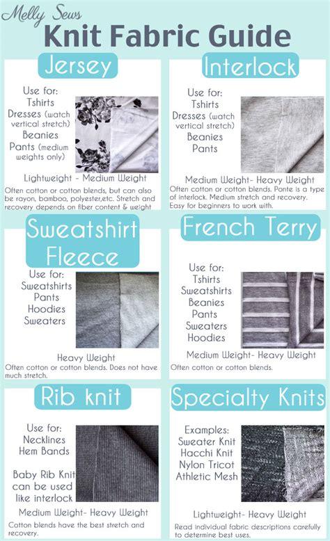 fabric types understanding knit fabrics fabric types melly sews