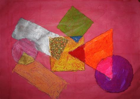 Abstract Shapes Overlapping by Great Abstract Lesson Using Shape Color Overlapping