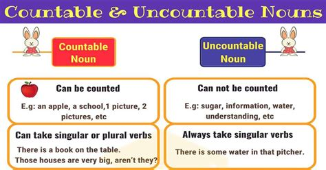 Countable And Uncountable Nouns Useful Rules & Examples  7 E S L