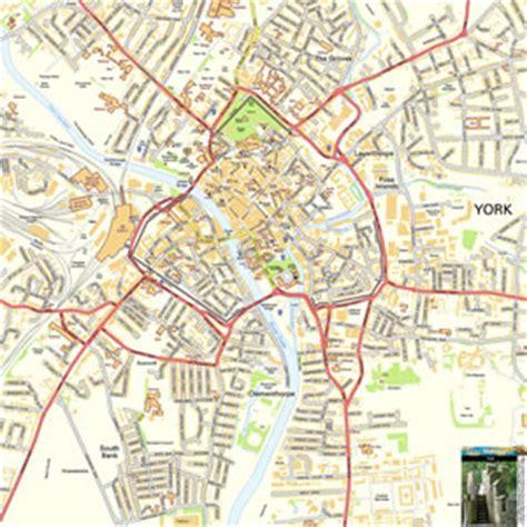 york offline street map including  minster city walls