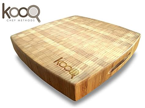 butcher block by the foot the large bamboo chopping block with feet by kooq thick 100 sustainable anti microbial