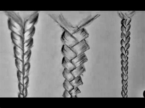 draw braided hair  beginners youtube