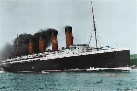 rms olympic model sinking rms lusitania in color www pixshark images