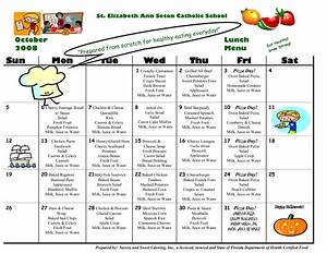 8 best images of school lunch calendar templates school With school lunch calendar template