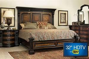 Cabernet King Platform Bedroom Set With 32quot TV At Gardner