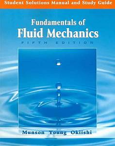 Student Solutions Manual And Study Guide To Accompany Fundamentals Of Fluid Mechanics  5th