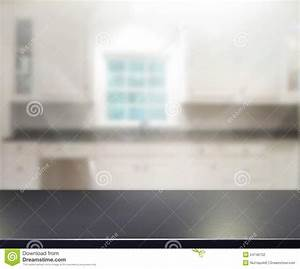 Table Top And Blur Interior Of Background Stock Image