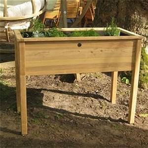 Bac En Bois Pour Potager : bac potager de balcon en acacia 111x56x85 cm cyprus ~ Dailycaller-alerts.com Idées de Décoration