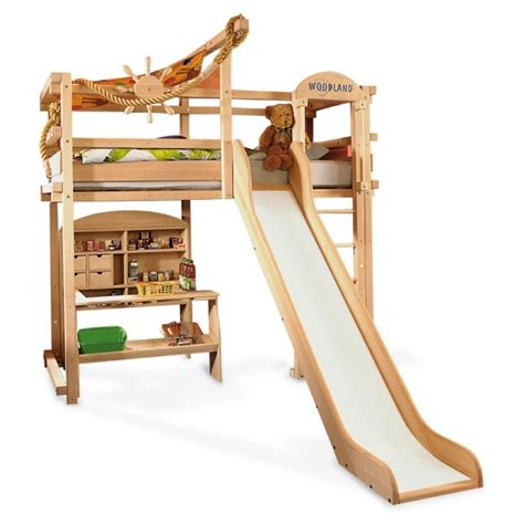 bunk bed with slide and desk bunk beds for girls with slide bedroom ideas pictures