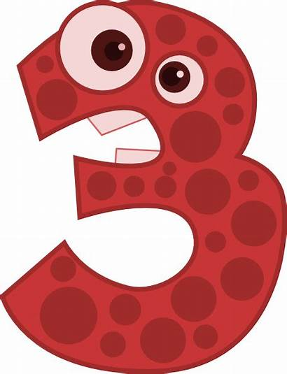Number Animal Clip Three Clipart Clker Animals