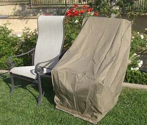 premium tight weave patio hi back chair covers with velcro With lawn furniture seat covers