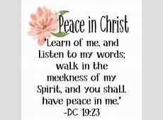 2018 Mutual Theme Peace in Christ The Idea Door
