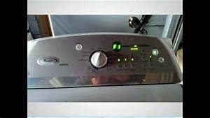 Whirlpool Cabrio F1 Error Control Board W10189966