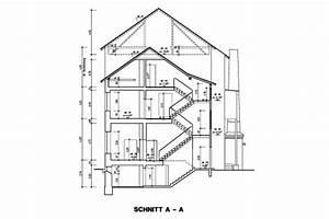 Architektur Haus Zeichnen : haus schnitt zeichnen home sweet home ~ Markanthonyermac.com Haus und Dekorationen