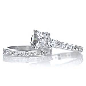 princess cut engagement rings 2 carat cara 39 s engagement ring set 2 5 carat princess cut cz