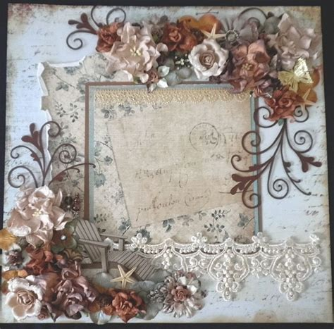 shabby chic scrapbook scrapbook shabby chic floral lace page by becky best scrapbook pages scrapbook shabby chic