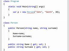 Generate a constructor in Visual Studio Visual Studio