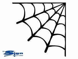 Corner Spider Web | Halloween | Decal - Wall Art Company