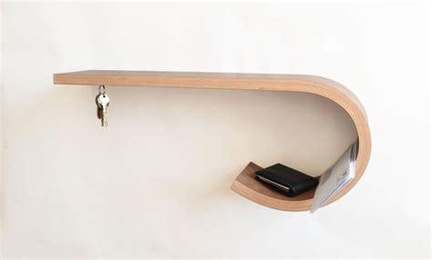 artistic shelves unique furniture design twists and warps wooden materials in artistic way