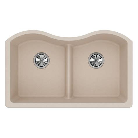kitchen sink putty elkay quartz classic undermount composite 33 in
