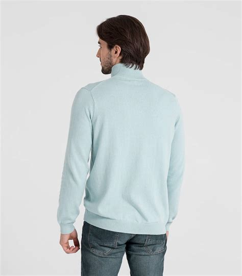 zip sweater mens pale blue 10 90 cotton mens and