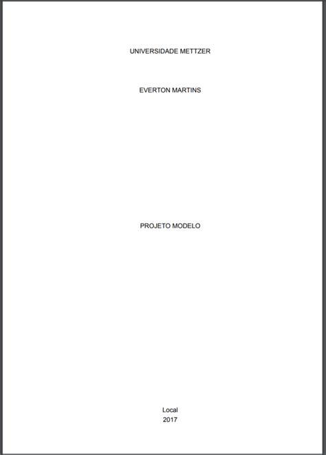 capa de trabalho nas normas abnt tcc monografia artigos aprenda a formatar capa e contracapa ou folha de rosto nas