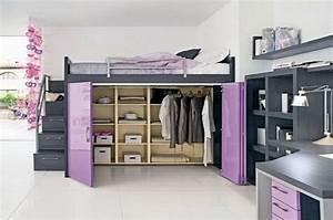 Lit Mezzanine Dressing : un dressing sotto un letto a soppalco 12 esempi a cui ispirarsi ~ Dode.kayakingforconservation.com Idées de Décoration
