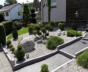 Garten Bepflanzen Ideen : vorgarten mit steinen und kies bilder new garten ideen ~ Lizthompson.info Haus und Dekorationen