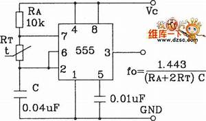 temperature frequency conversion circuit composed of 555 With 555 pulse generator circuit further variable high current power supply