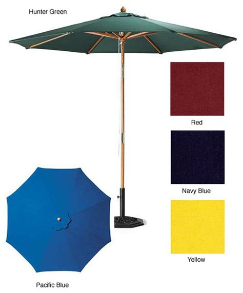 premium 9 foot patio umbrella with heavy duty stand