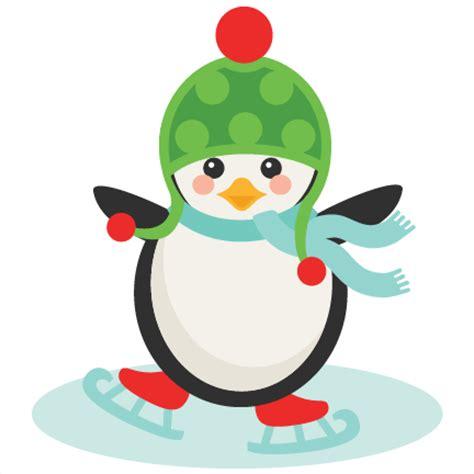 ice skating penguin svg scrapbook cut file cute clipart